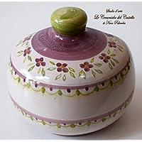 Nascondispugna Linea Classica Lilla per Cucina e Bagno Handmade Le Ceramiche del Castello 100% Made in Italy