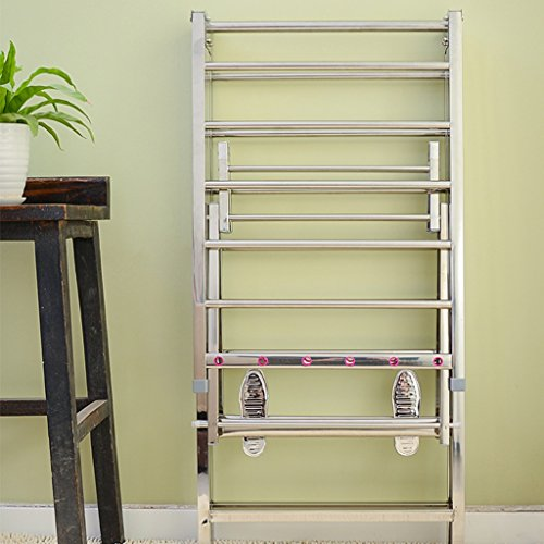 Simple moderna percha de ropa Acero inoxidable Landing Racks de secado plegable Balcón Mobile Dry Quilt Rack ( Tamaño : #1 )