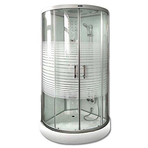 Home Deluxe White Pearl 90x90 cm Duschtempel, inkl. Dampfsauna und komplettem Zubehör - 2