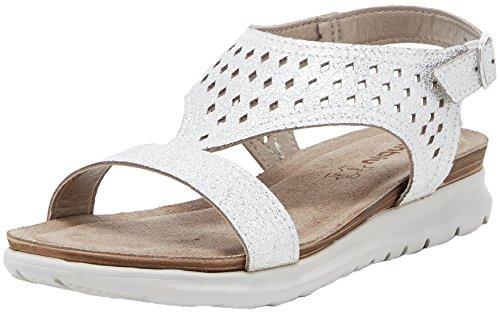 Inblu tufurai, sandali con chiusura a t donna, argento, 40 eu