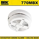 BRK 770MBX Hard-Wired Ionisation Smoke Alarm with 9V Battery Back-up and Push-Fit Docking Base from BRK