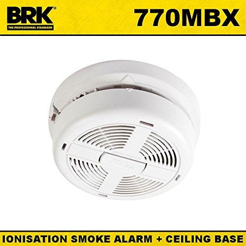 BRK 770MBX - Rilevatore di fumo a ionizzazione, alimentato da rete elettrica, con batteria di soccorso 9 V