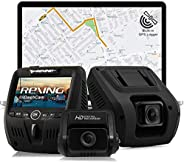 Rexing V1LG Dual Channel Car Dash Cam FHD 1080p 170° Wide Angle Dashboard Camera Recorder with HD Rear Camera,