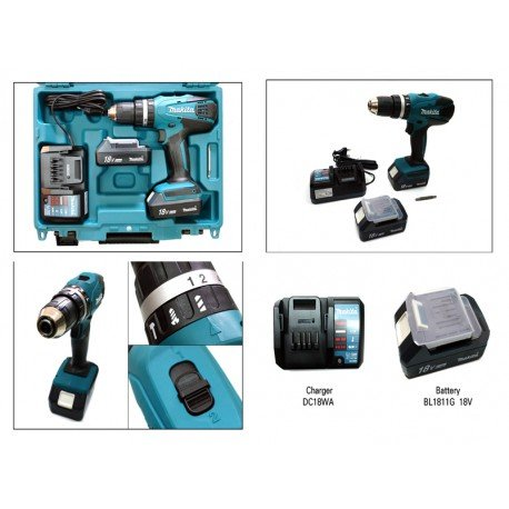 Makita-HP457DWE-Taladro-Percutor-A-Bateria-18V-Litio-Ion-13-Ah