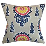 Das Kissen Collection queen-pp-michelle-nina-birch-c10 Birke oenpelli Ikat Betten Sham, Queen/50,8 x 76,2 cm