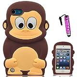Semoss 2 in 1 Teléfono Accesorios - Silicona Mono Funda Carcasa Case Cover Con Mini de la pluma del tacto Para Apple iPod Touch 5 5th