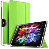 IVSO Acer Iconia Tab 10 (A3-A50) Hülle, Ultra Schlank Ständer Slim Leder zubehör Schutzhülle perfekt geeignet für Acer Iconia Tab 10 A3-A50 2017 Tablet PC(10,1 Zoll), Grün