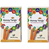 HONEY TWIGS 100% Natural Pure Honey-Multi Flora Honey Pack Of 2
