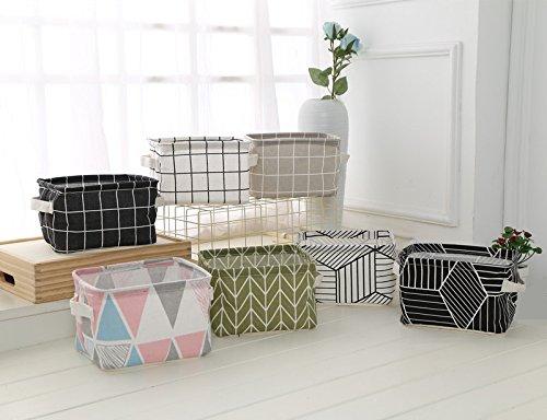 Aiuin boîte de rangement petit motif géométrique polyvalent poubelle