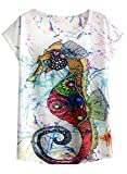 FUTURINO Damen T-Shirt Gr. XL, Multi
