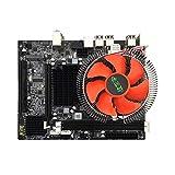 Motherboard, IntelX58 LGA1366 Gigabit RJ45 SATA2.0-Schnittstelle 6-Core-CPU 8G-Speicher mit Stummschaltung Lüfter Mainboard DDR3-RAM für Desktop-Computer-Heimwerker