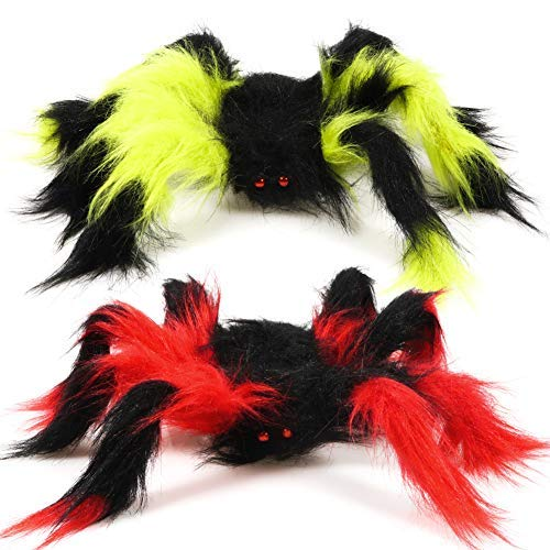 TOAOB 30cm Große Spinne Gefälschte Haarige Spinne für Halloween Dekoration Streich Prop (Dekoration Große Spinne)