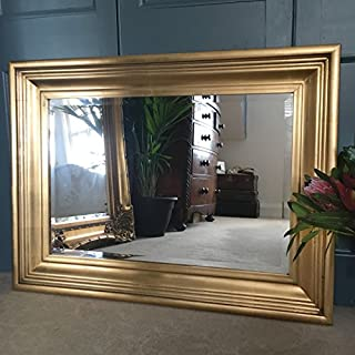 Ayers and Graces Gold Gilt Rhodes Mirror (2ft 5