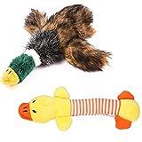 PET SPPTIES Jouet sonore en Peluche Les Chiens,Jouet Chien en Peluche Bruitages,Canard Qui couine Chien Jouets (Duck, Yellow Duck)