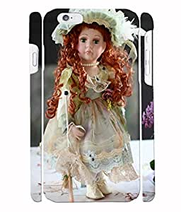 Fuson 3D Printed Cute Doll Designer Back Case Cover for Apple iPhone 6S - D722