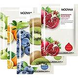 Pack 5 Mascarillas Hidratantes Revitalizantes Nutritivas Relajante, Extracto de Frutas (Manzana Verde, Naranja, Kiwi, Arándan