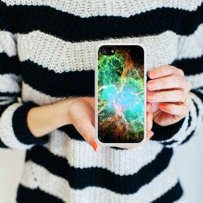Apple iPhone 4 Housse Étui Silicone Coque Protection Galaxie Motif Motif Housse en silicone blanc
