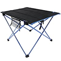 Table de Camping, Table Pliante Ultra-léger Table Pliable en Alliage d'Aluminium Table Portable pour Barbecue/ Camping/ Pique-nique/ BBQ/ Voyage/ Pêche (blue)