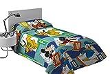 Export Trading Disney-Colcha de coprileto con diseño Mickey & Friends, 260 x 180 cm, Microfibra, Unico, 260x180x2 cm