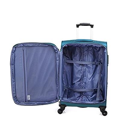 Verage-Rock-Stoff-Koffer-Trolley-mit-Erweiterungsfunktion-Suitcase-Handgepckkoffer-Reisekoffer-Kabinenkoffer-wasserdichtTSA-Schloss4-Rollenerweiterbar-PetrolLilaDunkelrotSchwarz-3-Gre