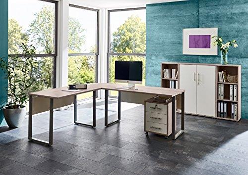 Büromöbel Arbeitszimmer komplett Set OFFICE EDITION (Set 2) in Sandeiche/Weiß