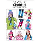Children's/Girls' Hats, Scarves, Fingerless Gloves, Mittens and Leg Warmers, M6213, All Sizes