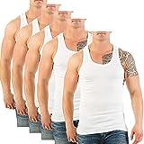 FTSD - FindTheSecretDreams 5er Pack Herren Unterhemden (Muskelshirt's/Achselhemden) Nr. 399 (10 (XXL), Weiß)