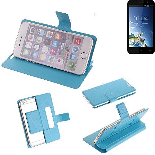 K-S-Trade Flipcover für Kazam Tornado 2 5.0 Schutz Hülle Schutzhülle Flip Cover Handy case Smartphone Handyhülle blau