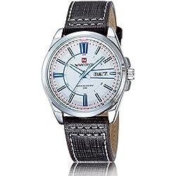 Man, quartz watch, business, fashion, PU leather, M0116