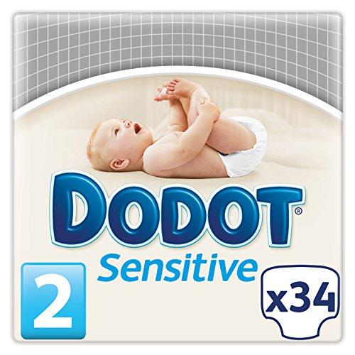 Dodot Sensitive - Pañales para bebés, talla 2 (3-6 kg), 1 pack de 34 pañales