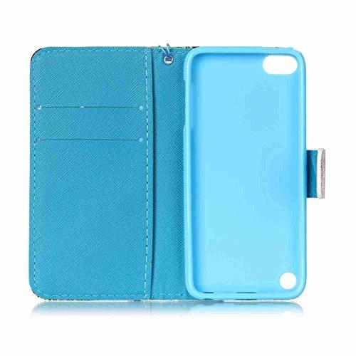 Owbb hibou PU cuir Housse de protection coque pour Apple iPod Touch (5ème / 6ème Génération) étui cover case Color 11