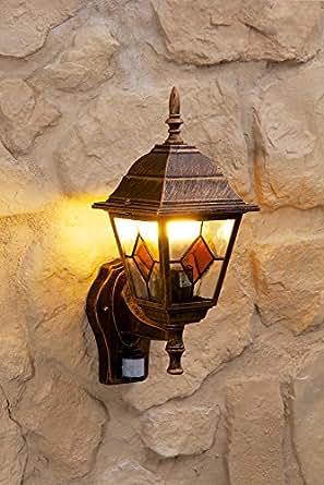 Applique da parete lampada da esterno con sensore di for Lampade da esterno