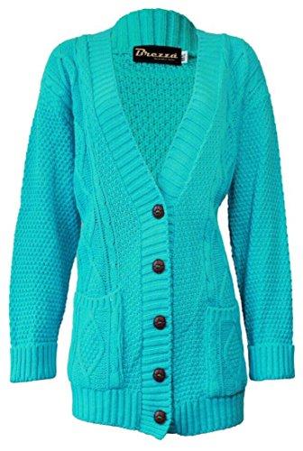 Fashion 4 Less - Gilet - Femme Bleu - Aqua