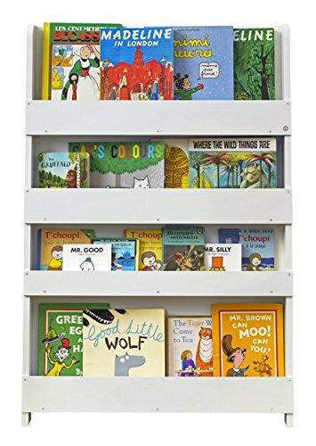 Tidy Books ® - Bücherregal Kinder | Weiß | Wandregal Kinderzimmer | Montessori Material | Holzregal | 115 x 77 x 7 cm | Nachhaltig und Umweltfreundlich | Handgefertigt | Das Original seit 2004 - Platte Display-regal