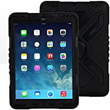iPad 2 3 4 caso, a prueba de nieve Meiya nueva arena prueba sobrevivente extrema suciedad ejército Militar resistente con funda para Apple iPad 2 3 4 2/3/regalo de los niños 4 niños niño protección completa ligero iPad caso