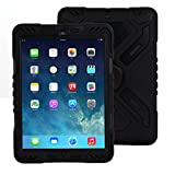 ipad 2/3/4 Hülle, Meiya multifunktionale Silikon stoßfest wasserdicht Drop robuste Fall, Heavy Duty Case, Kindersichere Hülle Kind Schutzhülle Geschenk für Apple ipad 2/3/4 schwarz/schwarz