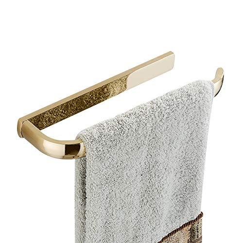 WOMAO Offenes Design Handtuchhalter Kurze Handtuchstange aus Messing, Europäisch Stil im Badezimmer für Kleine Räume, Wandmontieren Handtuchring - Messing Europäischen Handtuchring