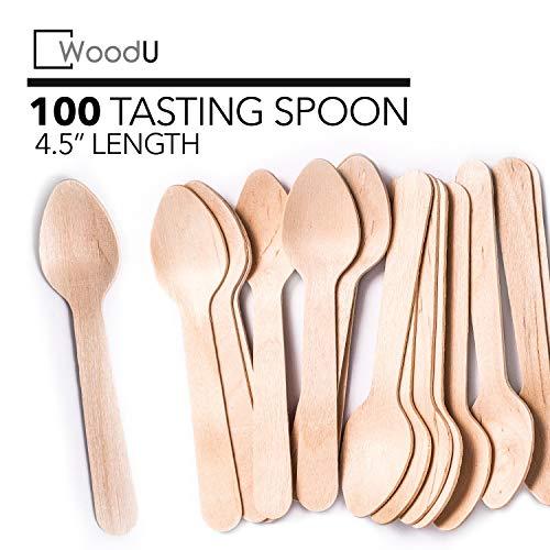 WoodU Mini cucharas madera 4.5