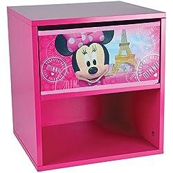 FUN HOUSE 712862 DISNEY MINNIE Table de Chevet pour Enfant, MDF, 33 x 30 x 36 cm