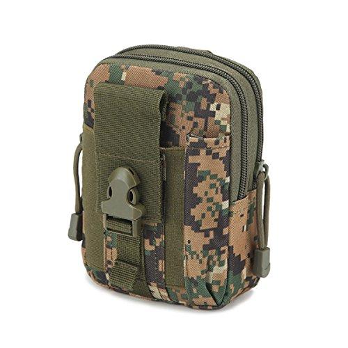 Cintura in vita borsa tattica molle Oxford borse portafoglio della borsa sport all' aria aperta Pack Edc camping hiking bag, Uomo, Army Green Camouflage
