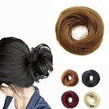 feshfen Haargummi Haarteil Elastic Messy Dutt, Pferdeschwanz Haarverlängerung Perücke drawstring-1# schwarz