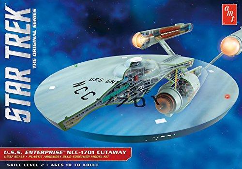 37 Star Trek TOS Enterprise Cutaway Plastikmodellbausatz, Modelleisenbahnzubehör, Hobby, Modellbau, Mehrfarbig ()