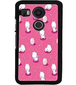 ColourCraft Cute Kitty Design Back Case Cover for LG GOOGLE NEXUS 5X