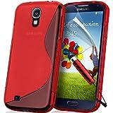Supergets Schutzhülle für das Samsung I9300, GALAXY S3 / S III, hochwertig und stylisch, TPU-Hydro-Gel-Case, inklusive Displayschutzfolie / Eingabestift für den Touchscreen / Reinigungstuch, Dunkelblau rot rot