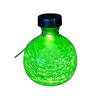 Achla Designs Goblet Solar Lantern, Fern Green by