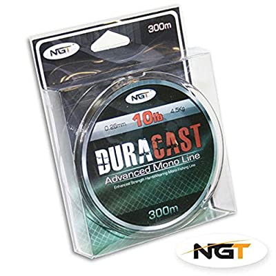 10lb Brown 'Duracast' Fishing Line - 300M Spool by NGT