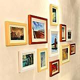 #7: WollWoll Decoration Painting TV LED Background Large Wood Photo Frame Set (135 cm x 2 cm x 70 cm)