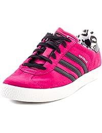 various colors 6f885 adf7f adidas Originals Gazelle da Donna Ragazza Sneaker in Pelle Scarpe da  Ginnastica Fucsia Leopardo