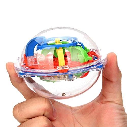2018 Honestyi Matschig Spielzeug,75 Barrieren 3D Labyrinth Magic Intellekt Ball Gleichgewicht Labyrinth Perplexus Puzzle Spielzeug