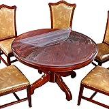 TYXCFR Tischdecke durchsichtige Kante weiche Glas Tischdecke wasserdicht und öldicht geruchslos Kunststoff-Tischloth Nicht schrumpfende Tischmatte leicht zu reinigen,100CM